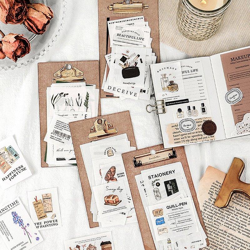 InfeelMe暖空心愛之物特種紙多材質手帳裝飾文字文藝詞匯素材包