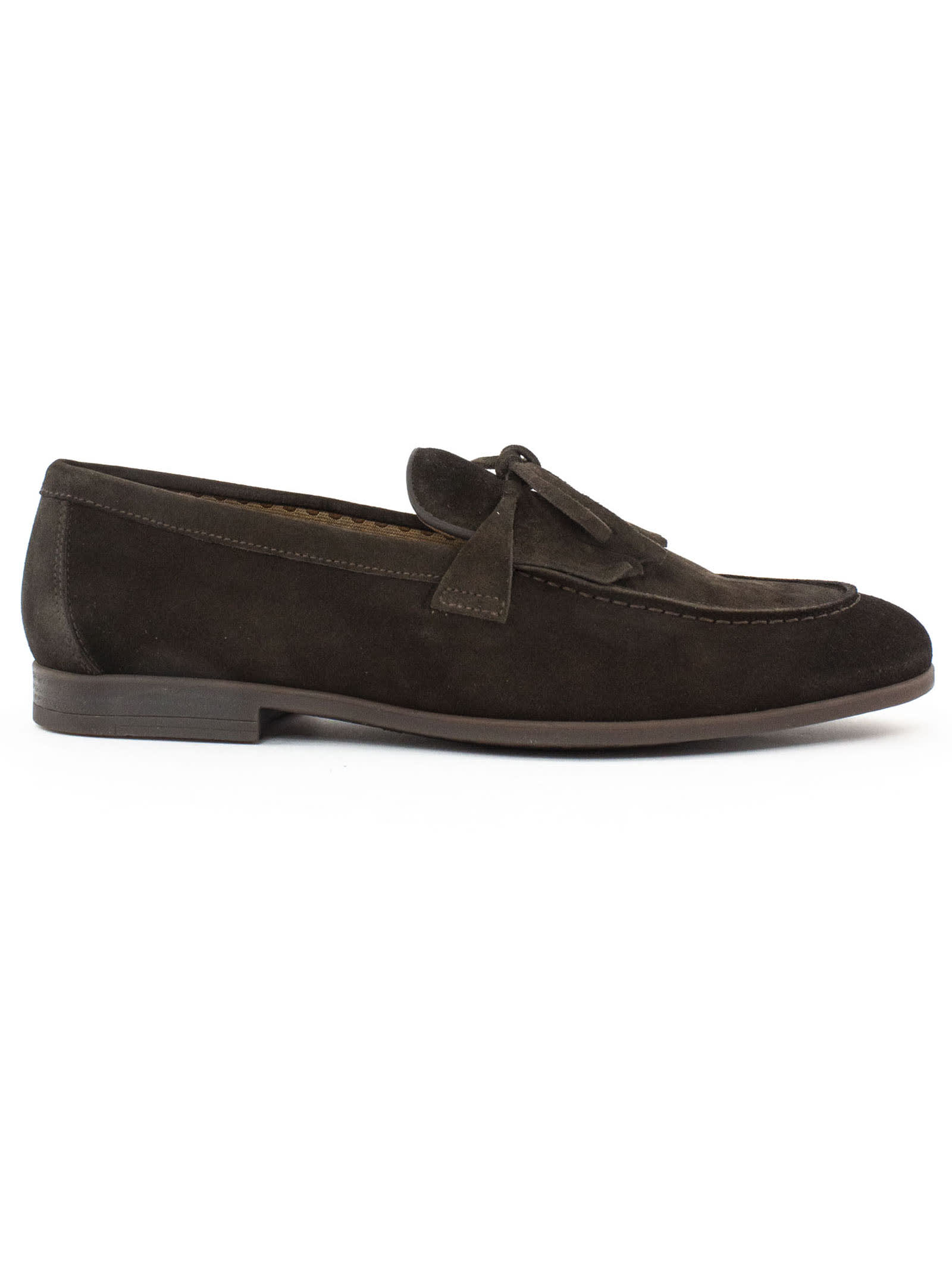 Doucals Brown Suede Loafers