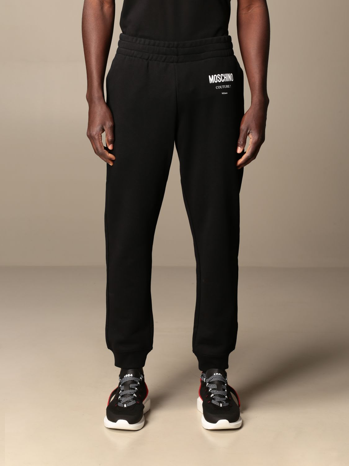 Moschino Couture Pants Moschino Couture Cotton Jogging Trousers With Logo