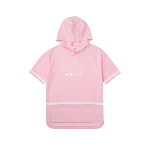 FILA KIDS 吸排連帽上衣-粉紅 5TEV-4440-PK