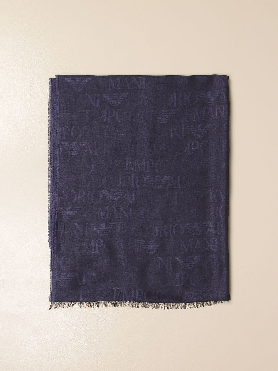 Emporio Armani Scarf Emporio Armani Scarf In Modal Blend With All Over Logo