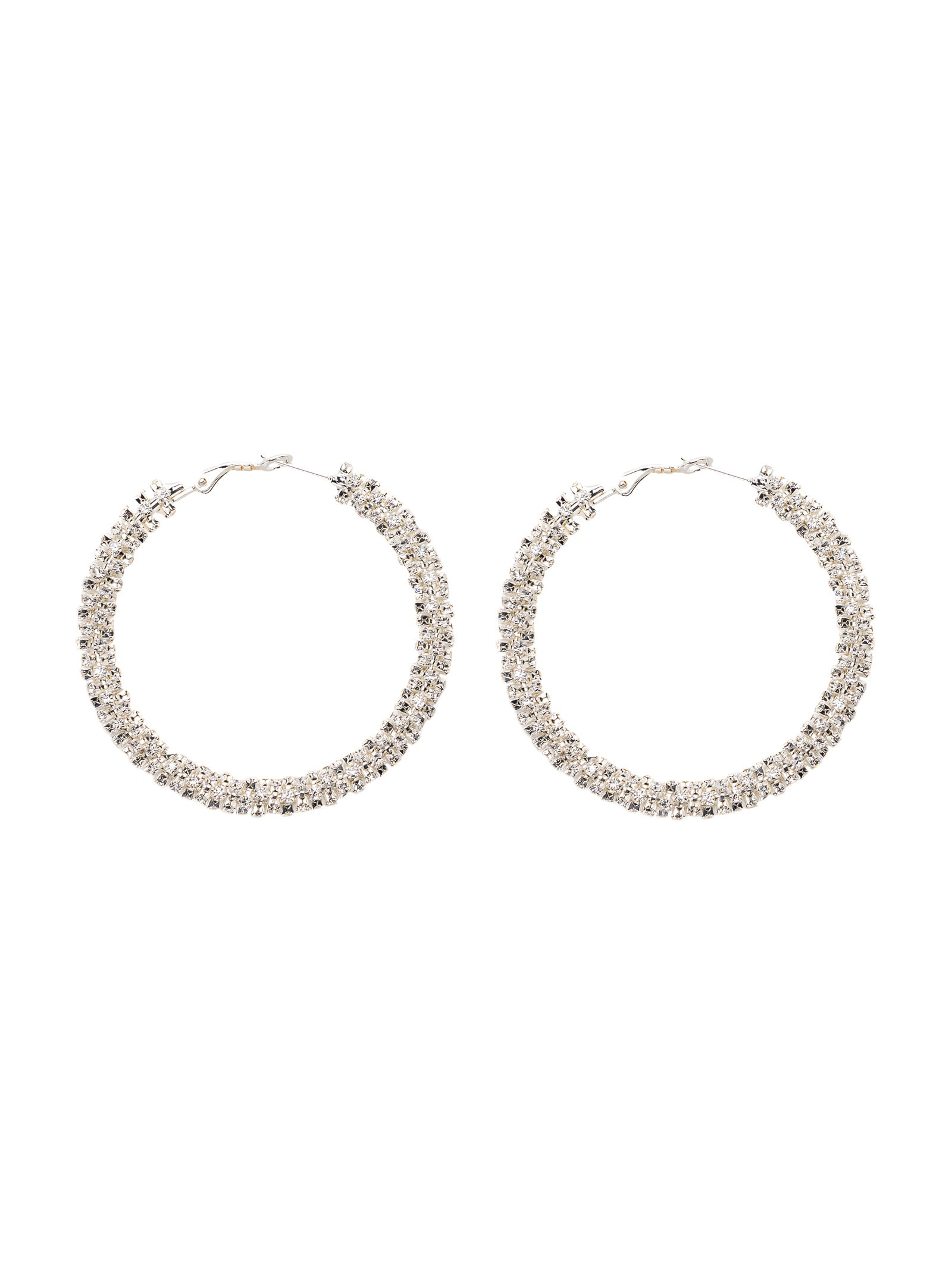 Magda Butrym Bold Crystal Hoop Earrings
