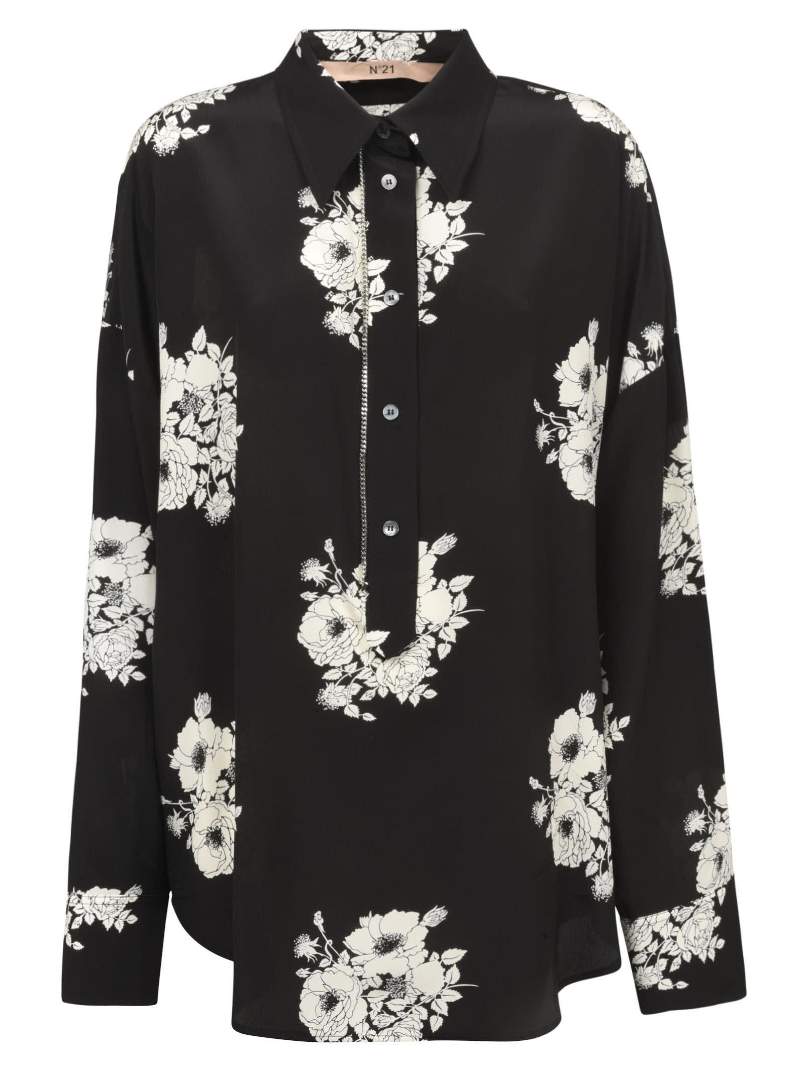 N.21 Long-sleeve Floral Print Shirt