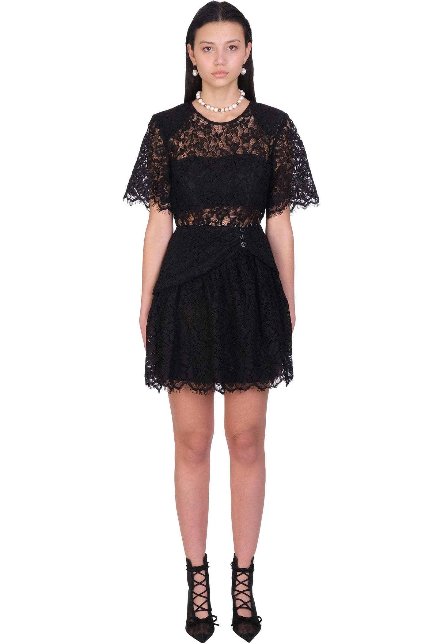 self-portrait Dress In Black Polyester