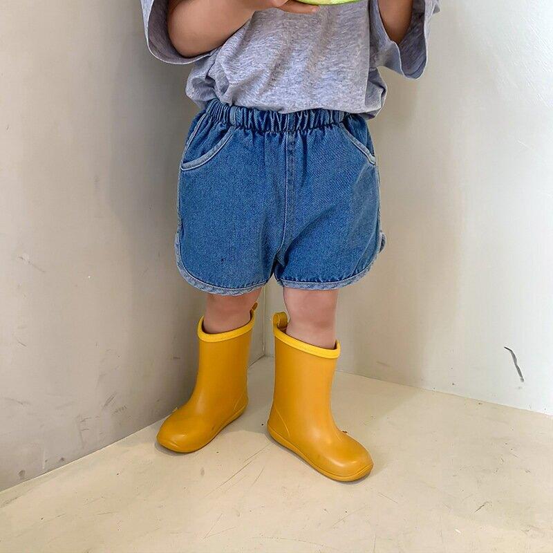左左王子童裝2021夏裝新款韓版男女童包邊牛仔短褲兒童牛仔褲