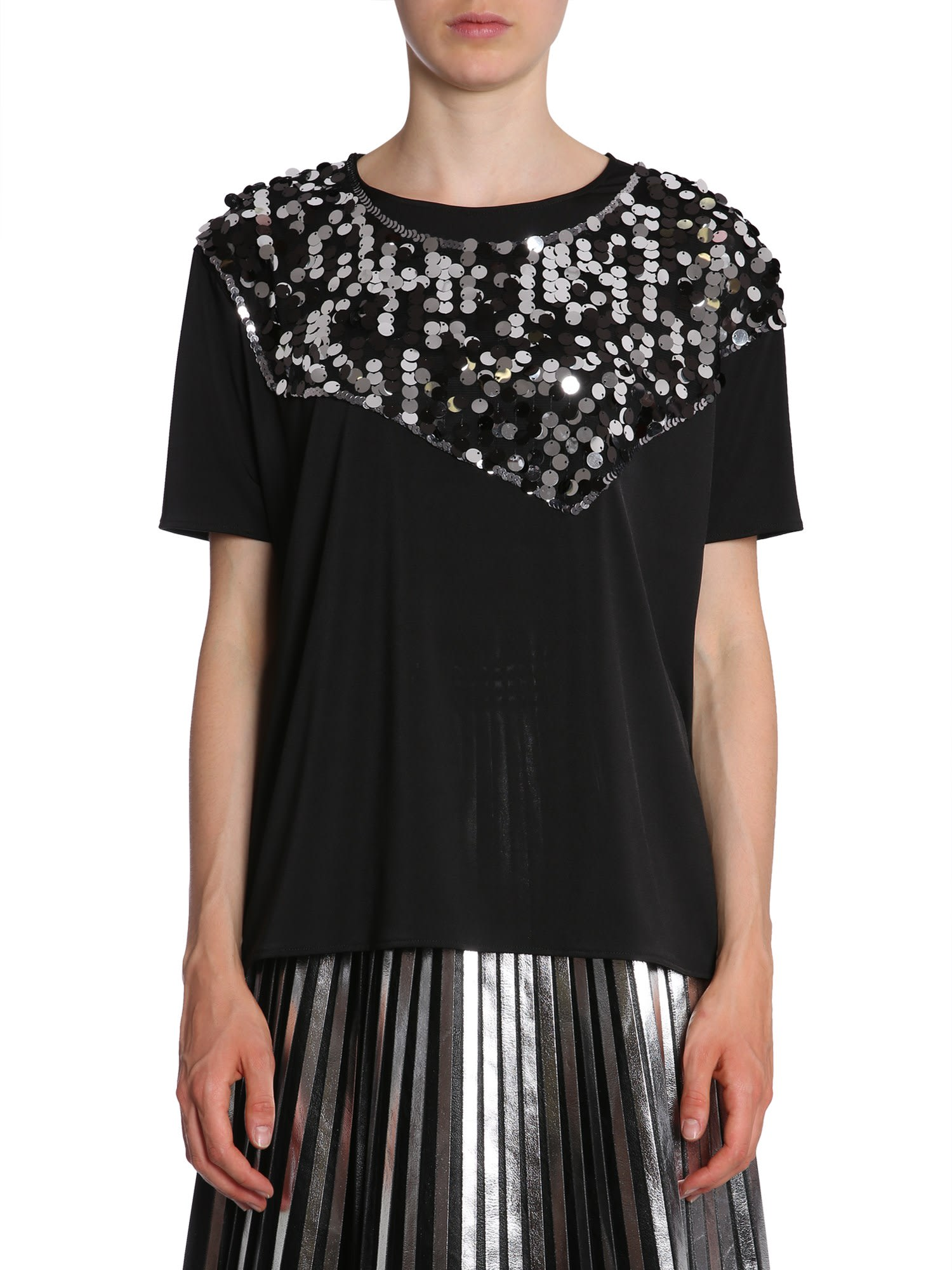 MM6 Maison Margiela T-shirt With Sequin Insert