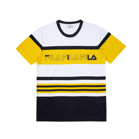 FILA 吸濕排汗短袖圓領T恤-黃色 1TEV-1469-YE