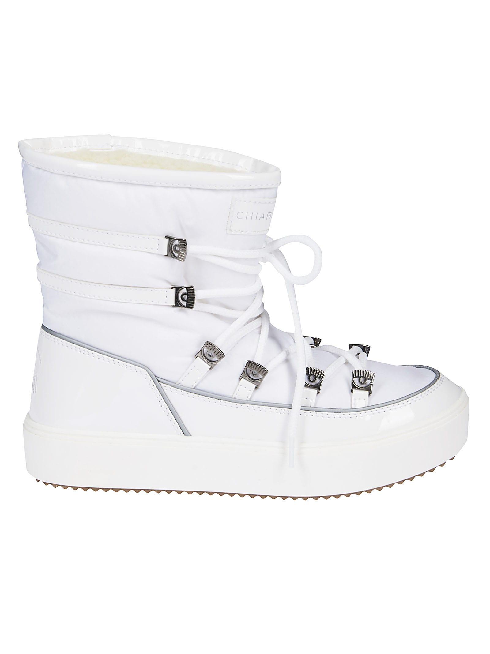 Chiara Ferragni Logo Patch Boots