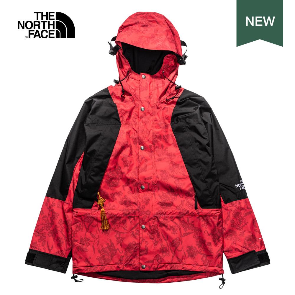 The North Face北面男女款紅色防水透氣衝鋒衣|4UDJ0WQ