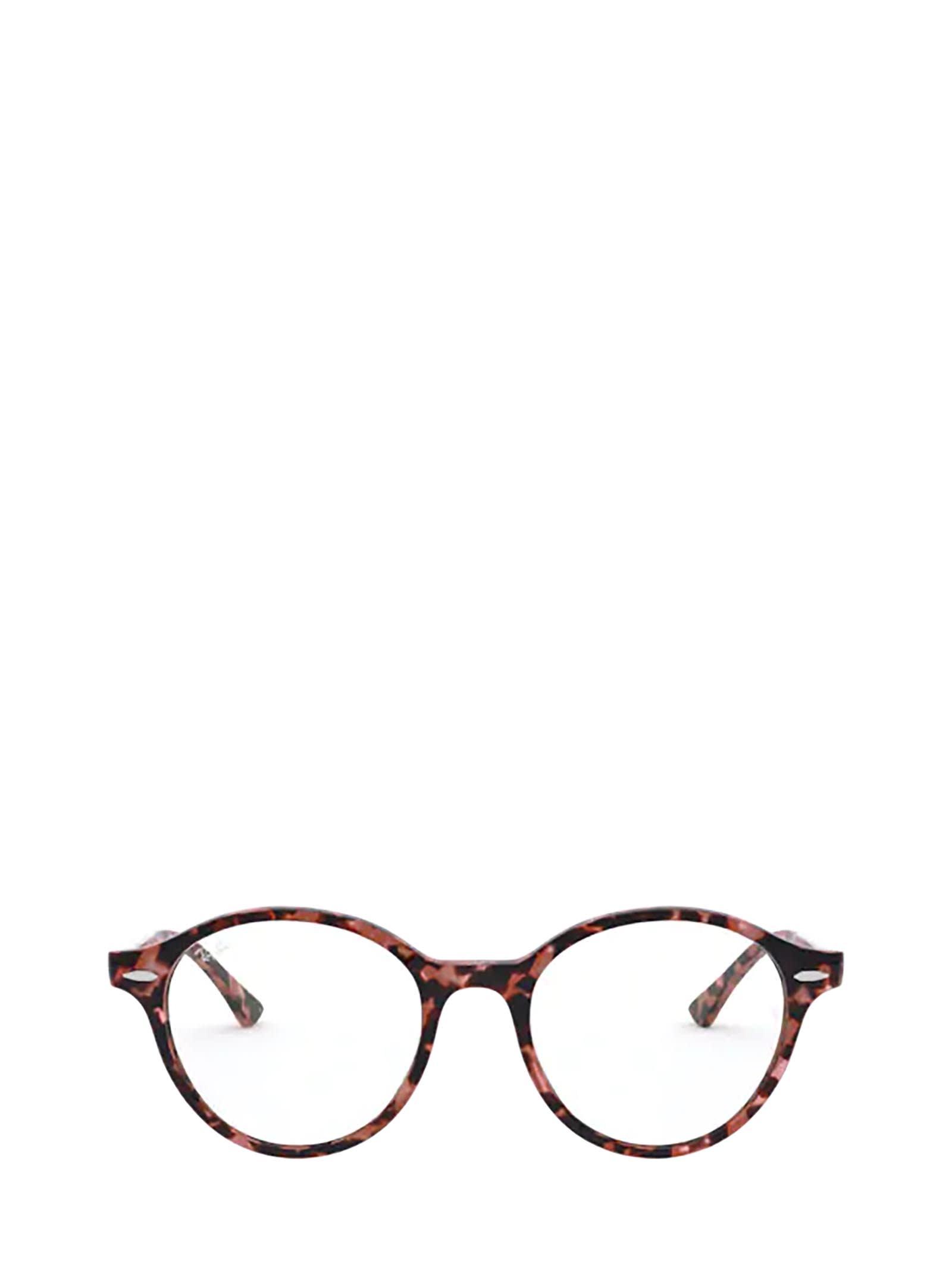 Ray-Ban Ray-ban Rx7118 Shiny Pink Havana Glasses
