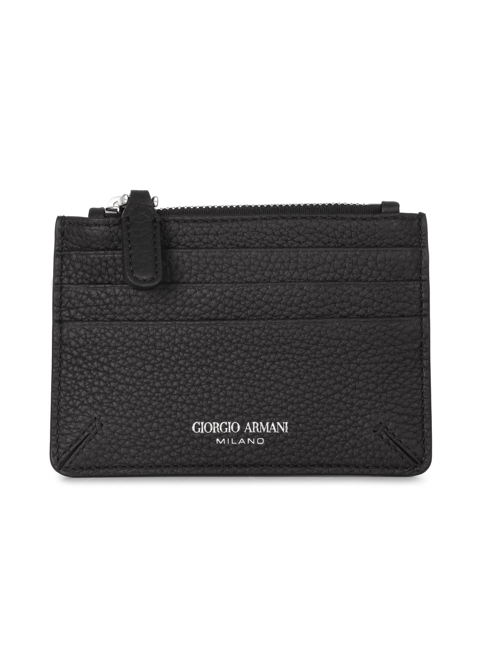 Giorgio Armani Leather Card Holder