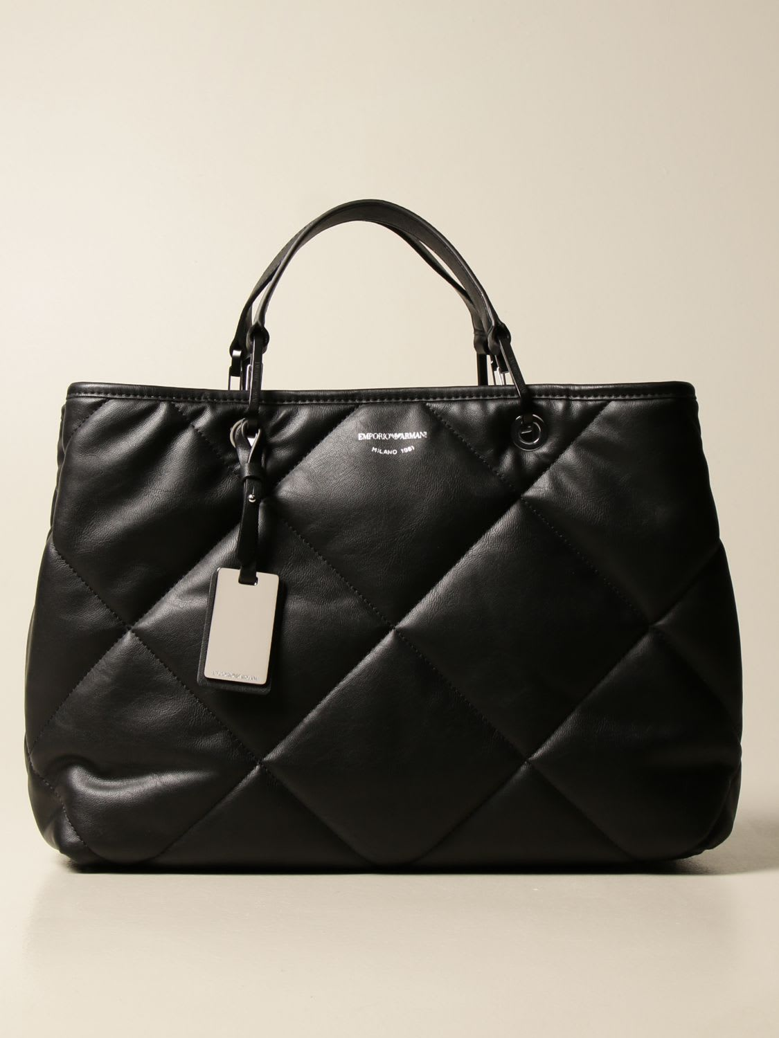 Emporio Armani Handbag Padded Emporio Armani Bag In Quilted Leather