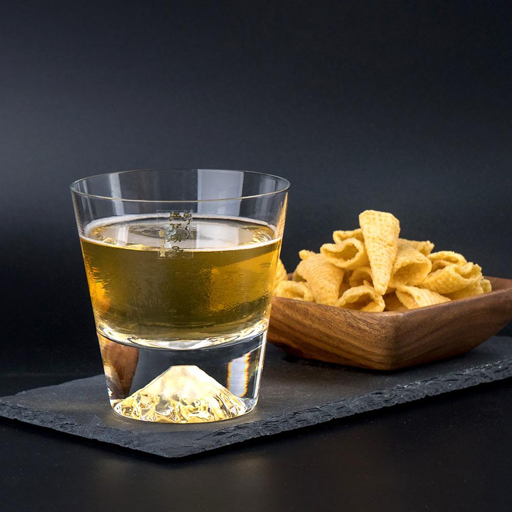 【公司貨】田島硝子 富士山杯 經典款 威士忌杯 酒杯 玻璃杯 隨飲料變色 最佳禮物 伴手禮推薦 TG15-015-R 熱賣中!