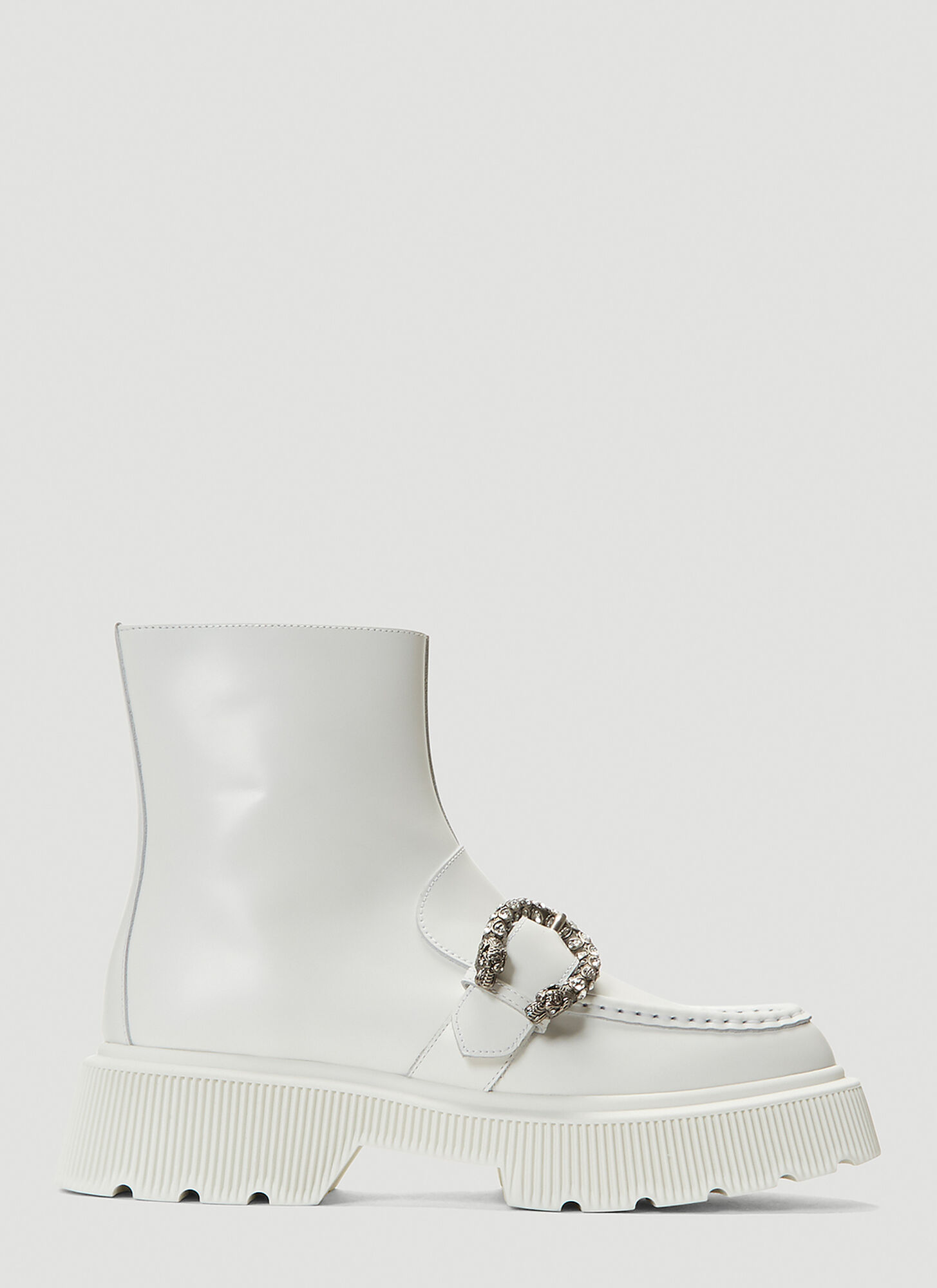 female White 100% Leather.