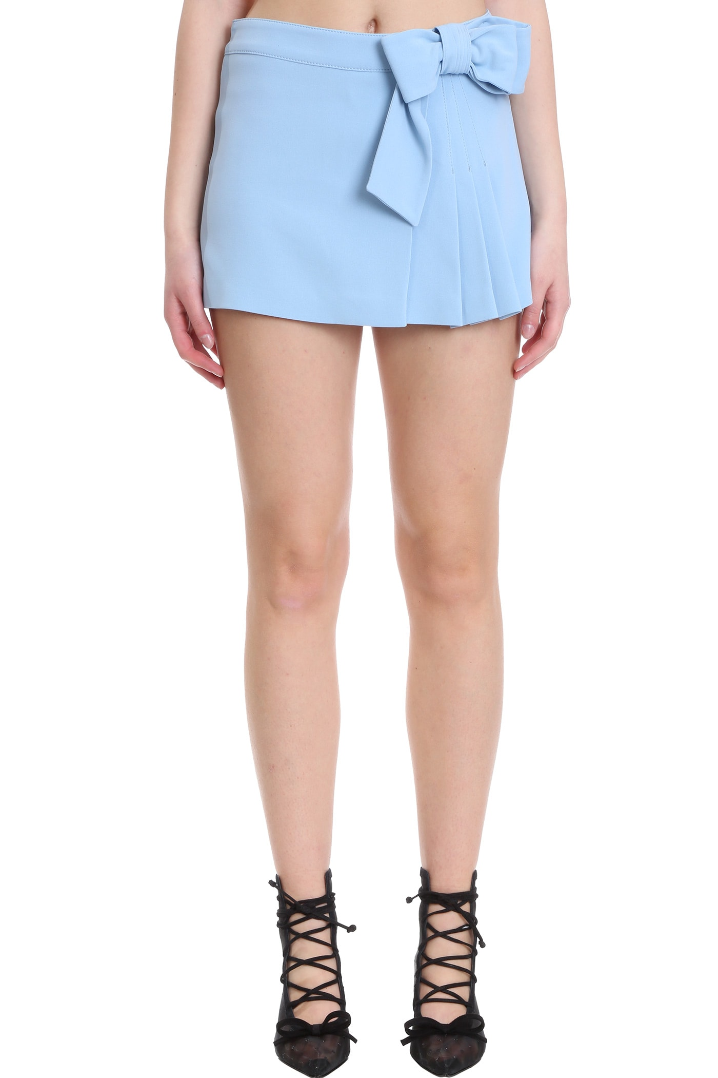 RED Valentino Shorts In Cyan Viscose