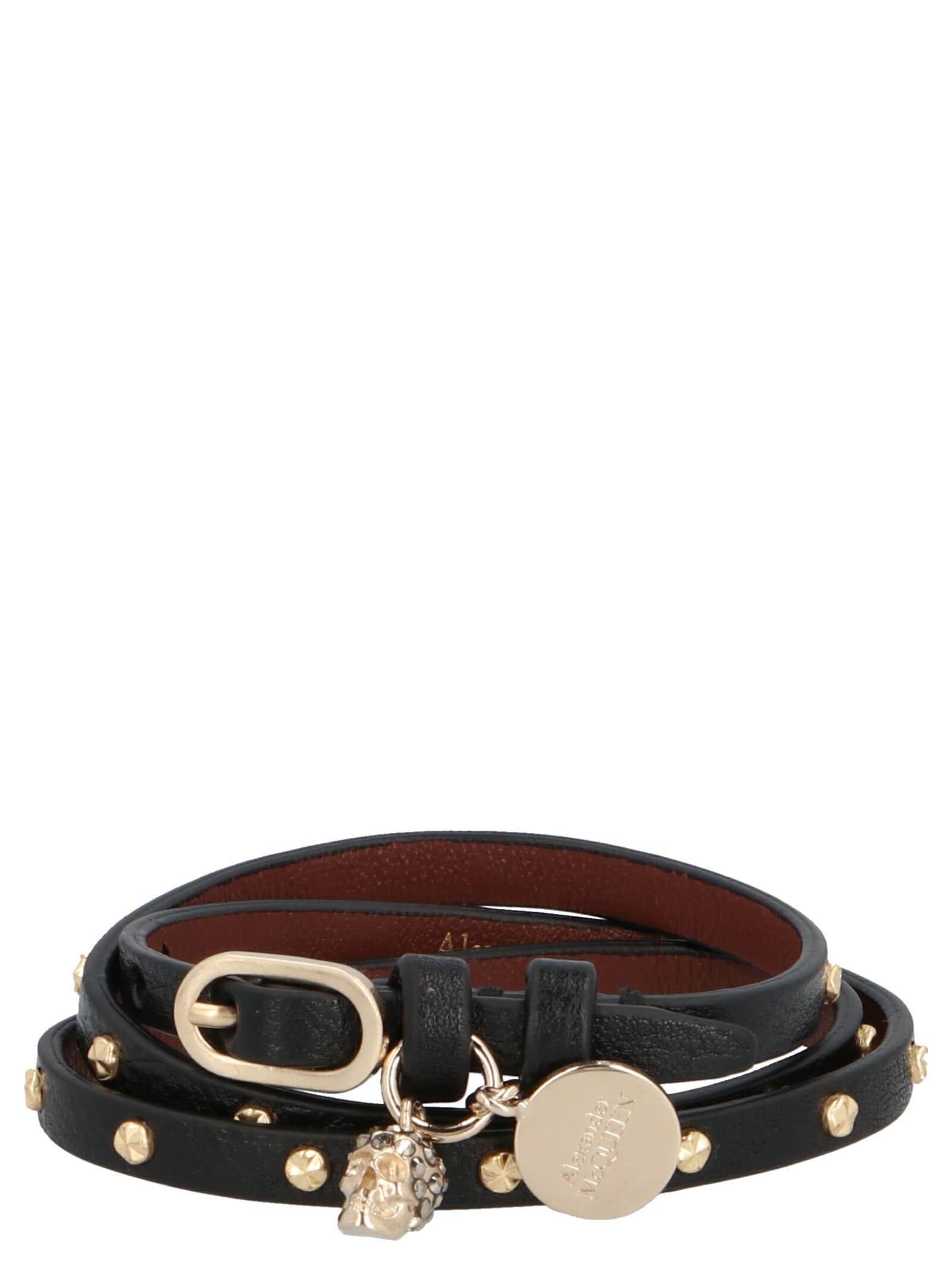 Alexander McQueen double Studs Wrap Bracelet