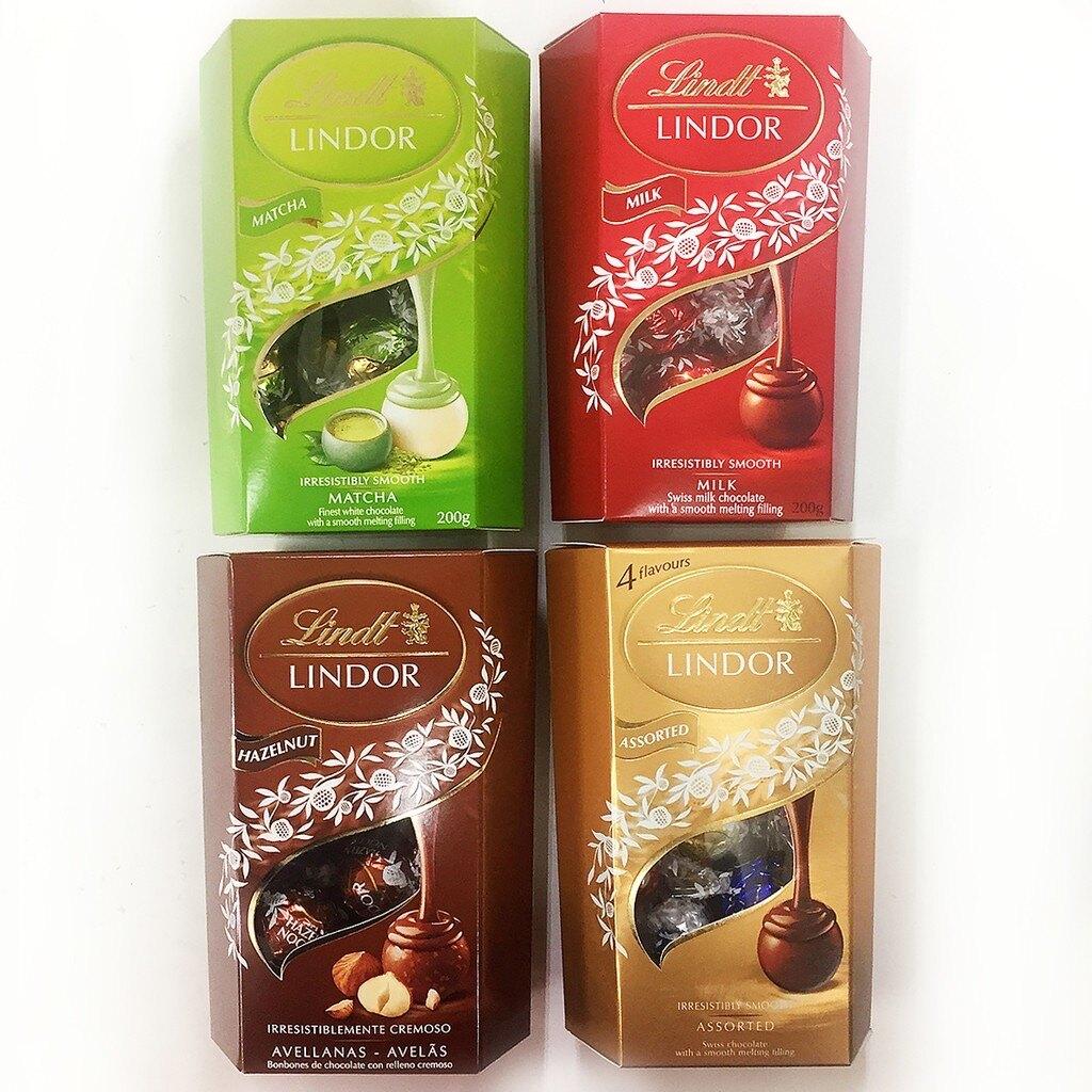 瑞士蓮Lindt LINDOR 綜合巧克力/榛果巧克力 200g