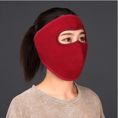 夯貨折扣! 面罩 騎行護臉罩防風罩臉部冬季頭帽防寒面套女全臉面罩騎車防護頭套男