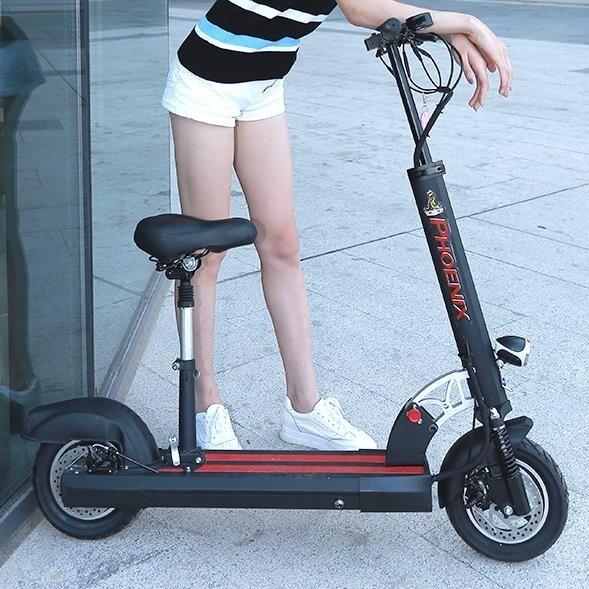 夯貨折扣! 電動車 滑板車鳳凰電動滑板車成人折疊電動車迷你小型代駕兩輪代步車電瓶車鋰電