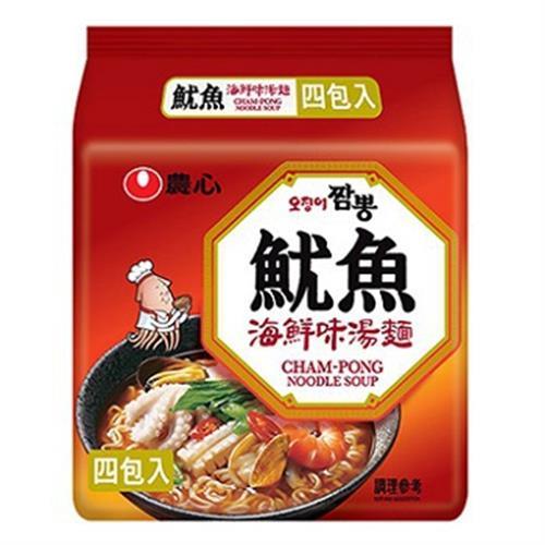 農心 魷魚海鮮味湯麵(120g x 4包) [大買家]
