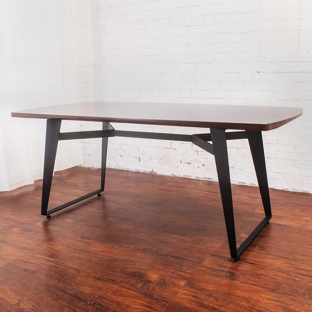 Boden-萊森工業風6尺實木餐桌