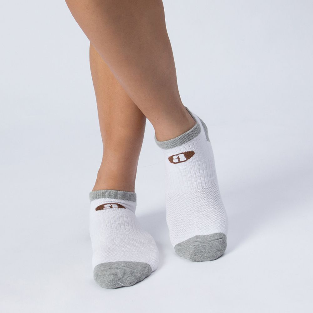 雙色船型運動襪-白色 (商品編號:S0100215)