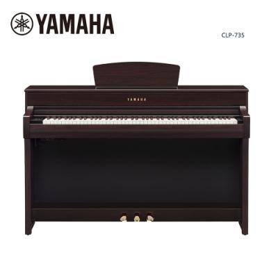 YAMAHA CLP-735 R 數位電鋼琴 88鍵 深玫瑰木色款
