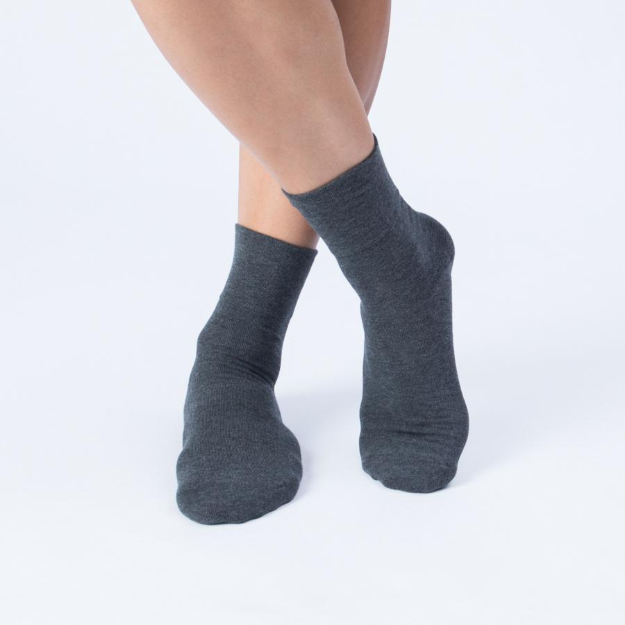 上班上課寬口襪-深灰色 (商品編號:S0400212)