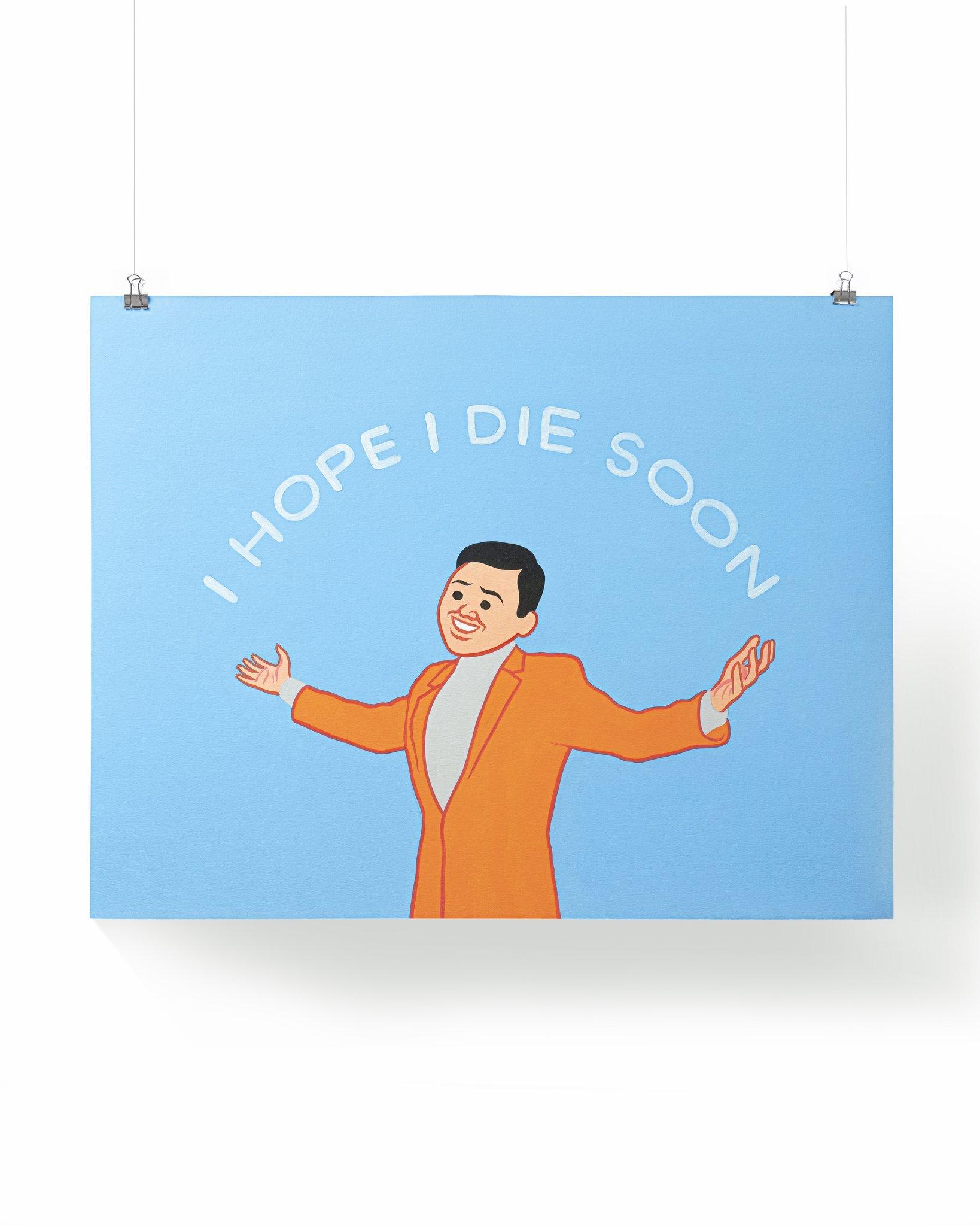 """JOAN CORNELLA DDT 2020 """"I HOPE I DIE SOON"""" 100版 版畫"""