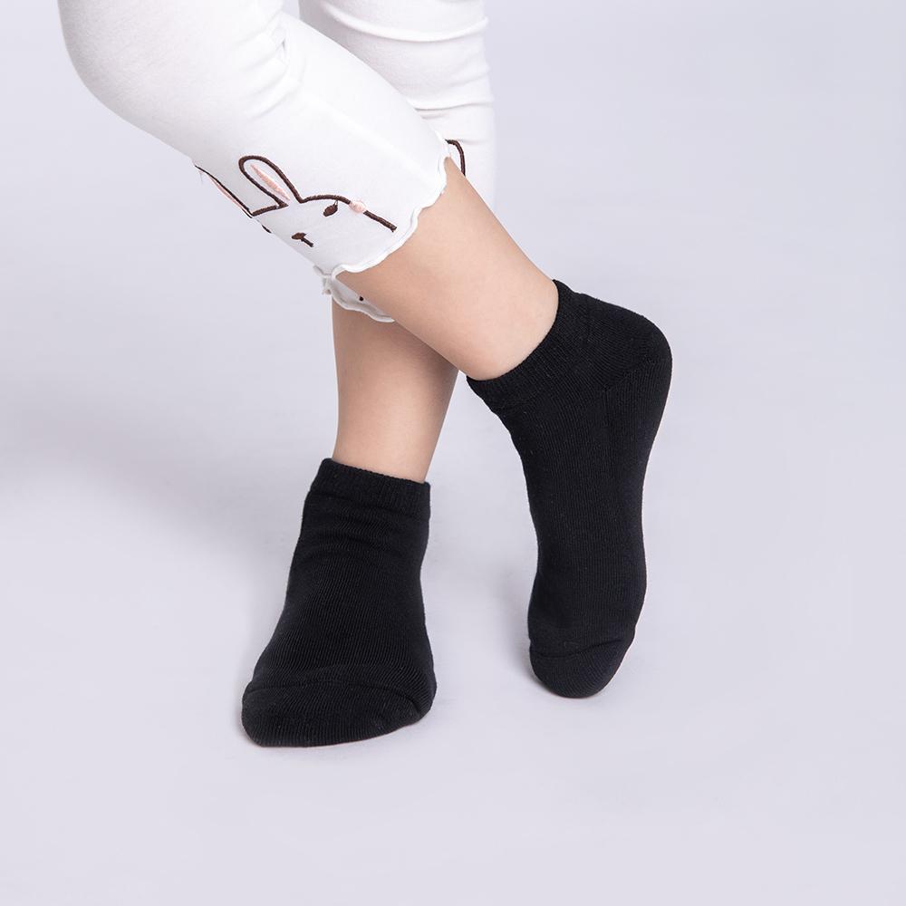 【JumpingColor】兒童玩色炫彩運動襪-黑 (S0602)