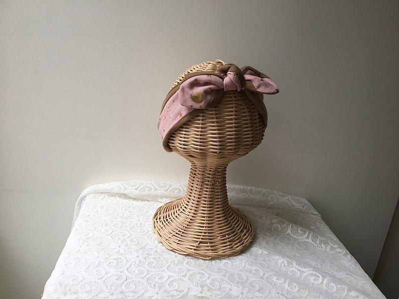 小宇宙-嬰幼兒款日本二紗綁帶髮帶-0-12歲