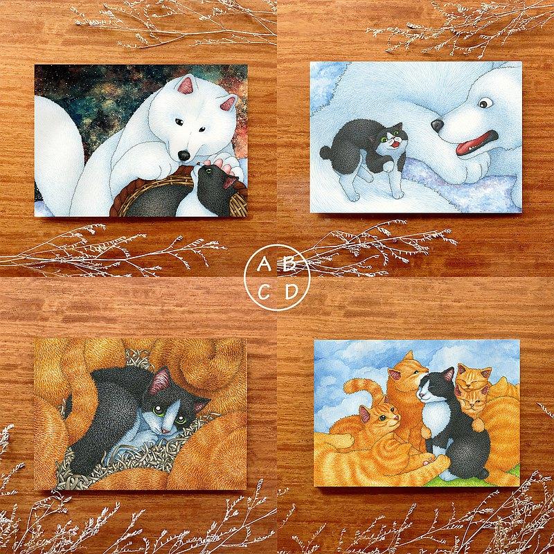 【貓瘋子】小黑與大白繪本明信片系列 3 / 明信片