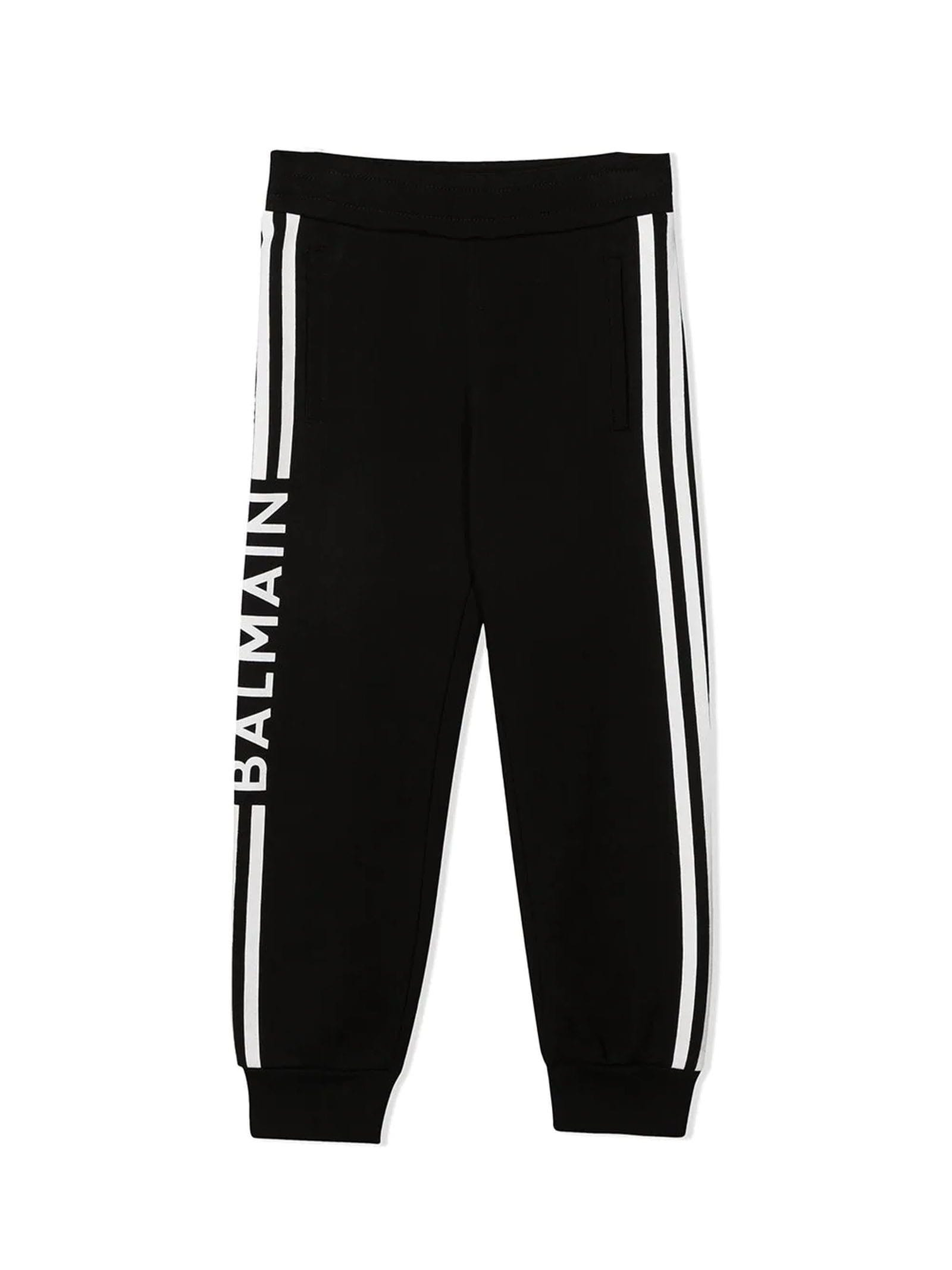 Balmain Black Cotton Track Suit