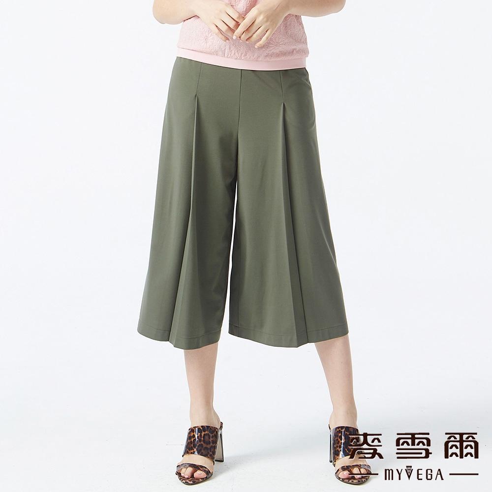 【麥雪爾】涼感垂墜七分寬褲-綠單件9折//任選二件85折