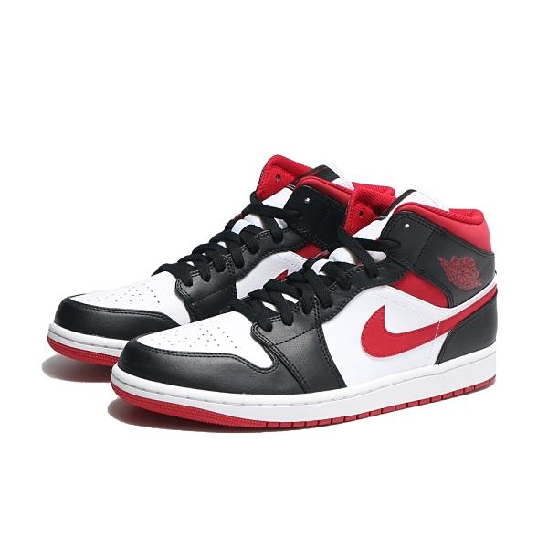 NIKE 籃球鞋 休閒鞋 AIR JORDAN 1 METALLIC RED GS 一代 黑紅 中筒 女 (布魯克林) DJ4695-122