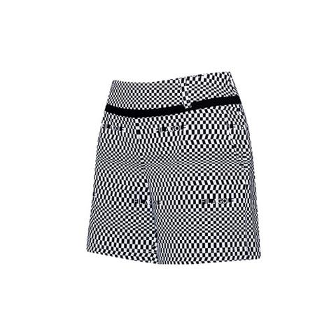 FILA GOLF 平織短褲-黑白 5SHV-2016-WT