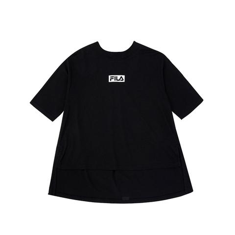 FILA #NEWTRO MANIA KIDS五分袖上衣-黑色 5TEV-4416-BK
