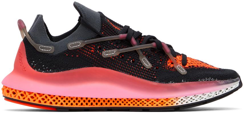 adidas Originals 黑色 & 粉色 4D Fusio 运动鞋