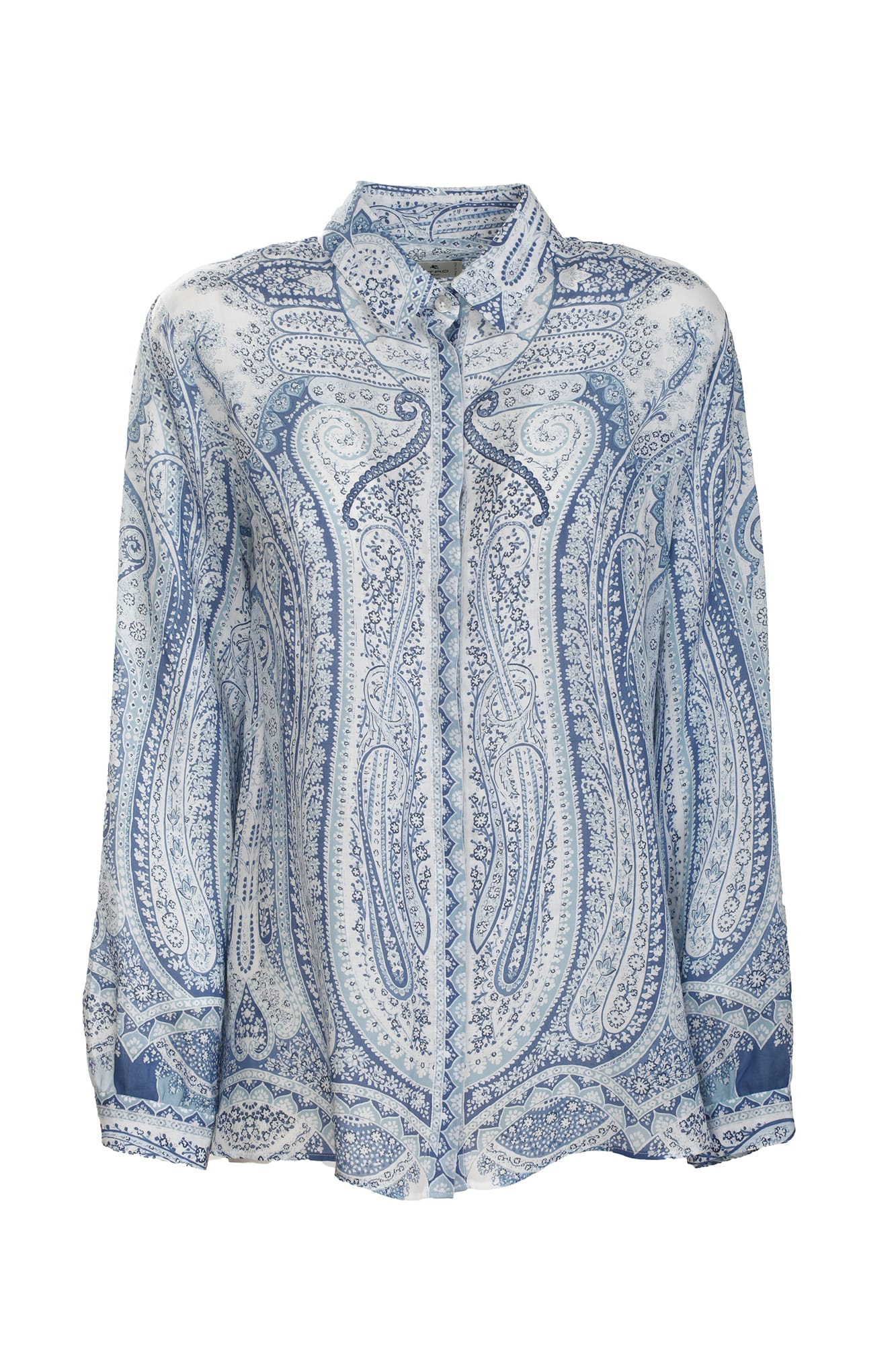 Etro stretch cotton shirt, decorated