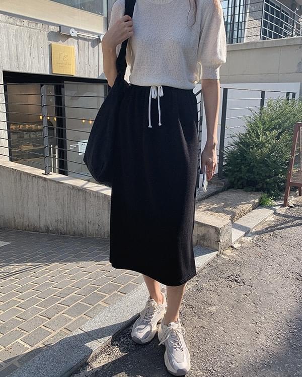 韓國空運 - Miju banding split long skirt 裙子