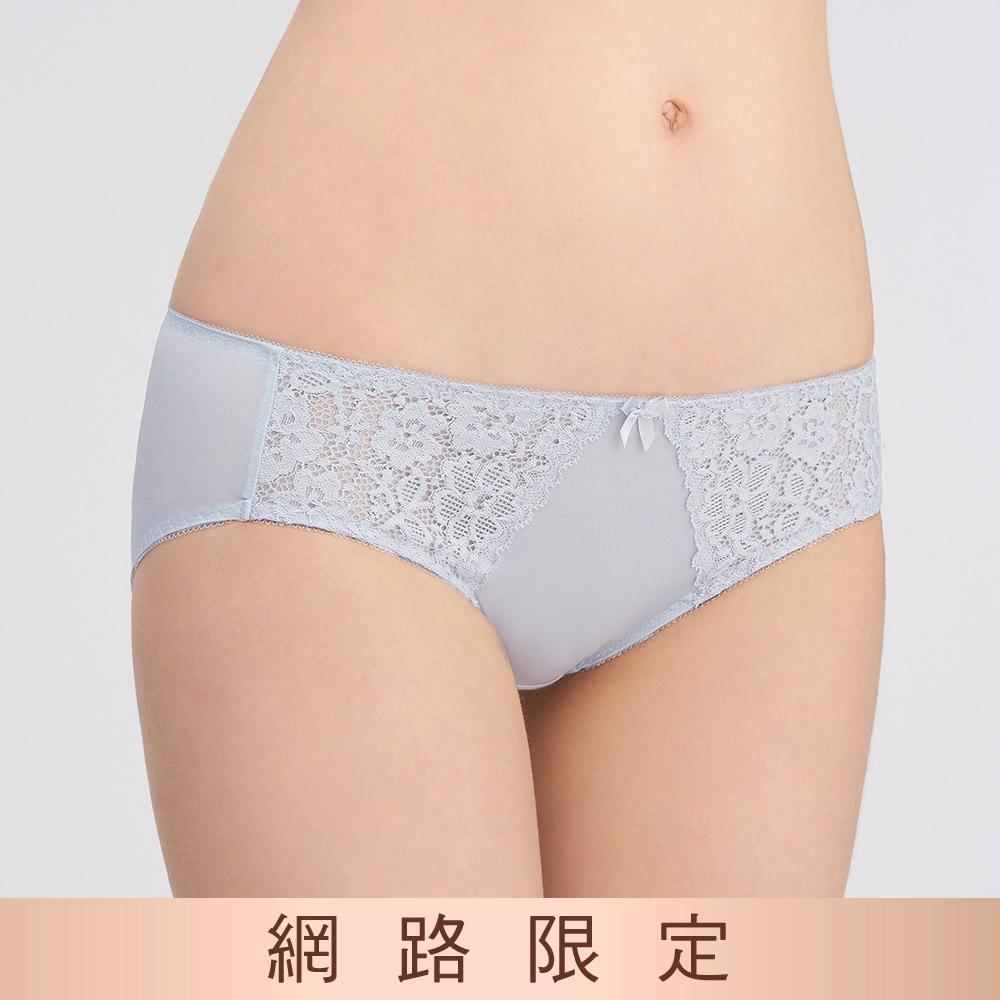 黛安芬-美型嚴選系列中腰三角內褲 M-EL 神秘灰|74-6540 8X
