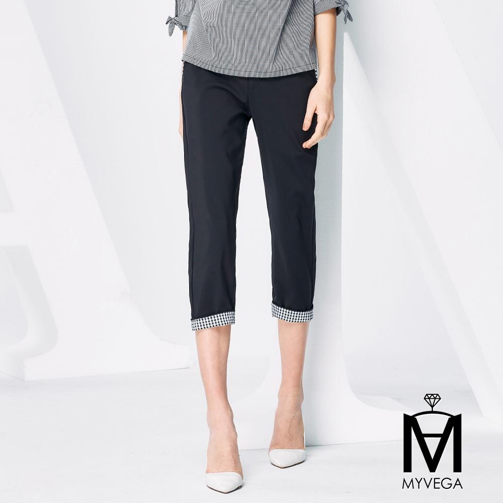 【麥雪爾】MA高含棉黑白八分褲
