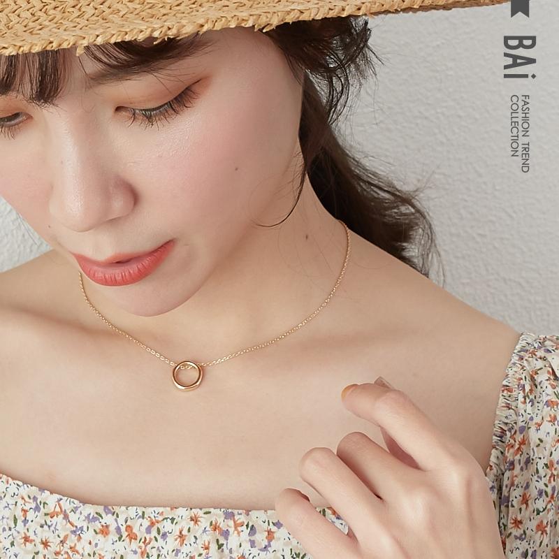 BAI e-shop 幾何圓圈形狀復古項鍊-【316048】