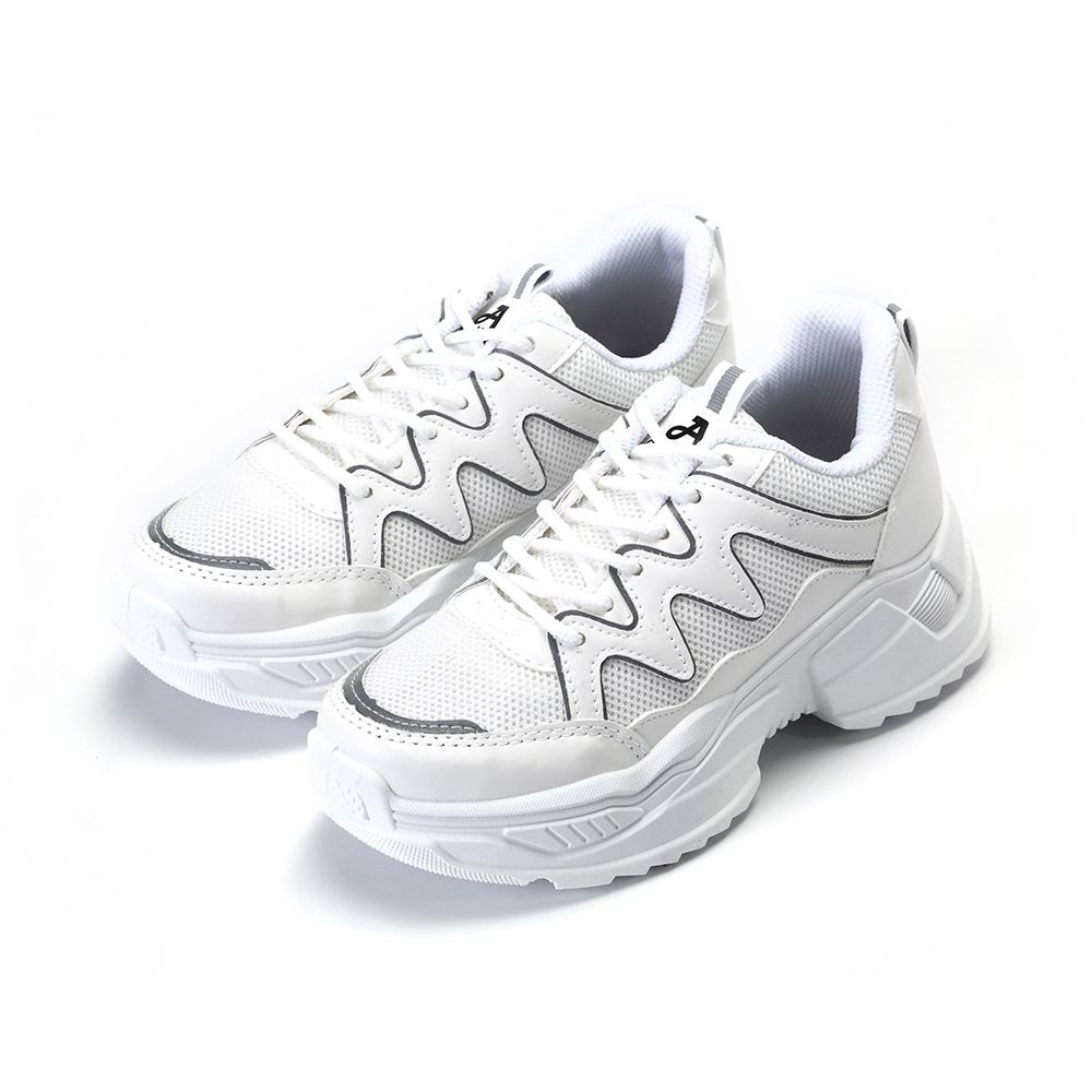 ARRIBA艾樂跑女鞋-復古休閒老爹鞋-白(AB9016)