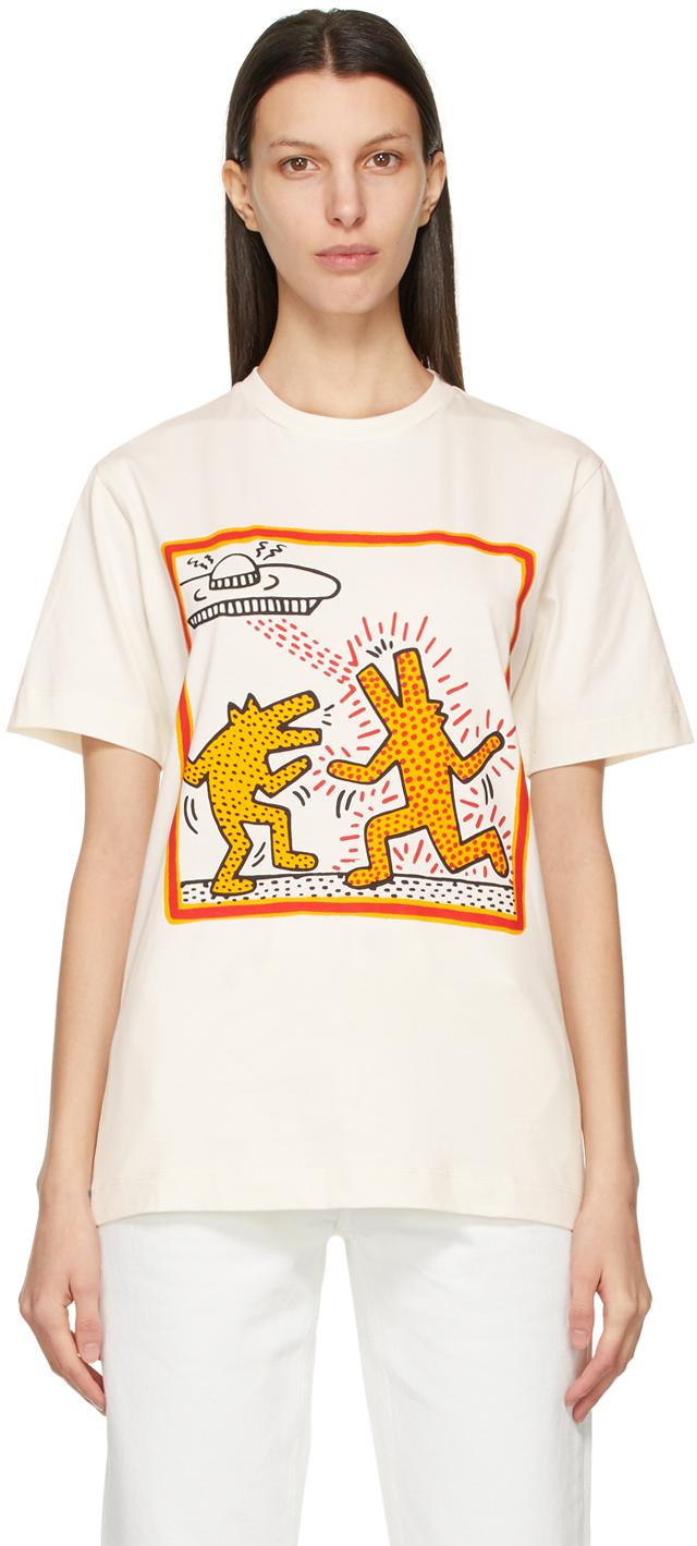 Études 灰白色 Keith Haring 联名 Wonder Dancing Dogs T 恤