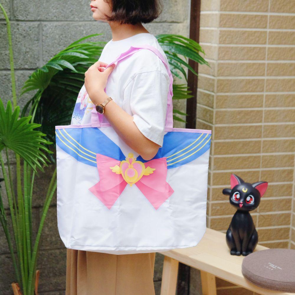 《Sailor Moon》日本商品 水手服折疊環保袋 肩背袋 購物袋 美少女戰士 25週年限定 劇場版Eternal