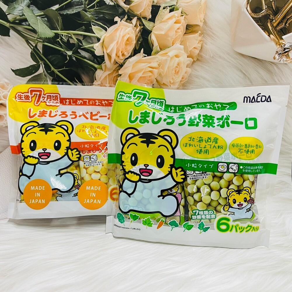 潼漾小舖 日本 macda 大阪前田製菓 巧虎蛋酥 6包入 寶寶饅頭 寶寶蛋酥 原味/蔬菜味