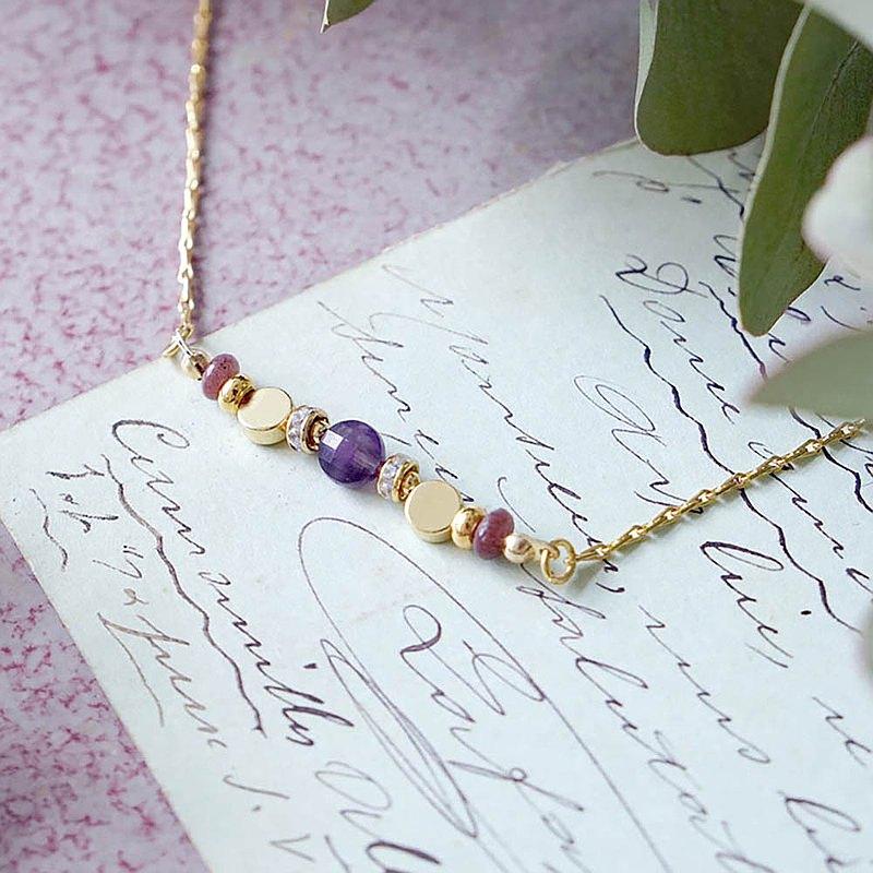 【Ficelle妃紗輕珠寶】星軌共舞 – 紫水晶 – 手鍊