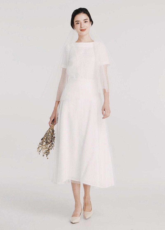 莉莉亞麻兩件式婚紗