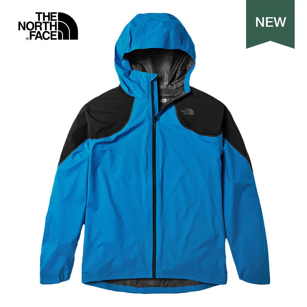 The North Face北面男款藍色防水透氣連帽衝鋒衣|3RNSW8G